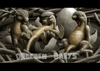Drache, Dragonbabys, Babydrachen, Digitale kunst
