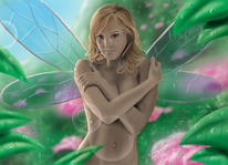 Fantasie, Jessica alba, Elfen, Digitale kunst