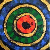 Kreis, Acrylmalerei, Gold, Malerei