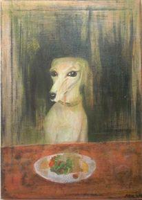 Essen, Salat, Gealtert, Hund