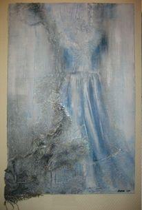 Kleid, Leinen, Spitze, Pinnwand