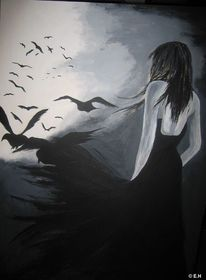 Sehnsucht, Menschen, Mond, Einsamkeit