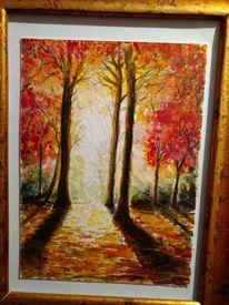 Wald, Laub, Licht, Herbst