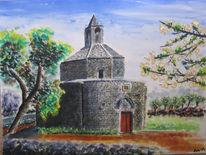 Frühling, Kapelle, Kirschbaum, Chiesa
