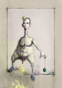 Zeichnungen, König, Stufe