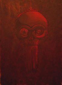 Rot, Dunkel, Tod, Malerei