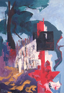Malerei, Requiem, Hof, Yard