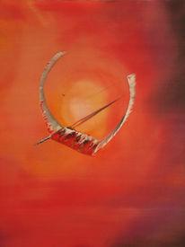 Sonne, Rot, Surreal, Ölmalerei