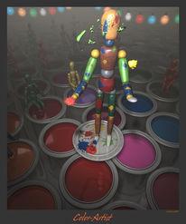 Farben, Digitale kunst, Figural,