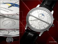Armbanduhr, Design, Uhr, Digitale kunst