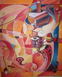 Denken, Farben, Kopf, Malerei