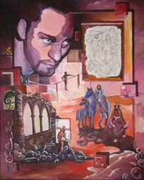 König, Fantasie, Ritter, Selbstportrait