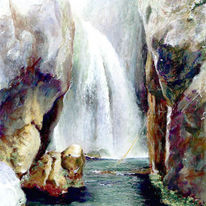Pastellmalerei, Landschaft, Farben, Zeichnung