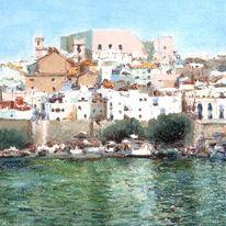 Pastellmalerei, Farben, Landschaft, Zeichnung