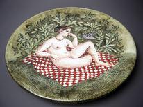 Keramik, Teller, Töpferei, Fayence