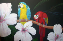 Urlaub, Papagei, Paradies, Malerei