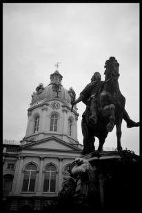 Berlin, Schwarz weiß, Statue, Charlottenburg
