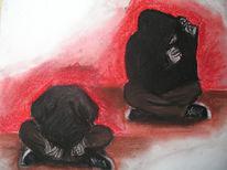 Körper, Pastellmalerei, Rot, Gestalt