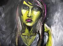 Dunkel, Expressionismus, Grün, Malerei