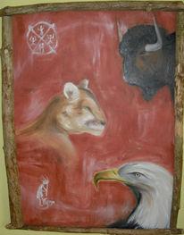 Büffel, Krafttier, Adler, Tiere