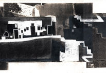 Surreal, Architektur, Schwarzweiß, Traum