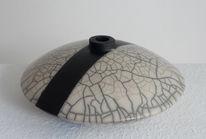 Vase, Raku, Keramik, Kunsthandwerk