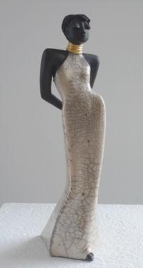 Figur, Raku, Keramik, Plastik