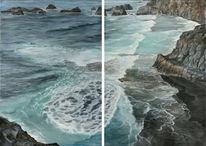 Felsen, Playa, Welle, Meer
