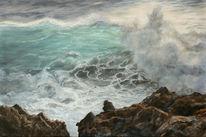 Licht, Meer, Welle, Felsen