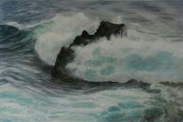 Welle, Atlantik, La palma, Meer
