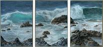 Felsen, Welle, Insel, Atlantik