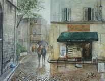 Heim, Pflaster, Avignon, Regen