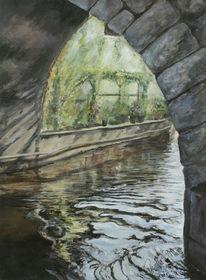 Wasser, Wetzlar, Brücke, Malerei