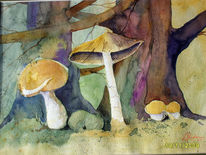 Malerei, Figural, Pilze