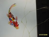 Fisch, Tiere, Collage, Aquarellmalerei