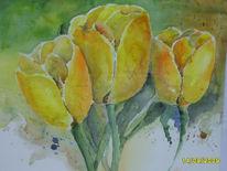 Tulpen, Blumen, Malerei, Stillleben