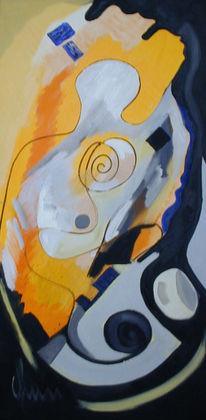 Ölmalerei, Portrait, Malerei, Abstrakt