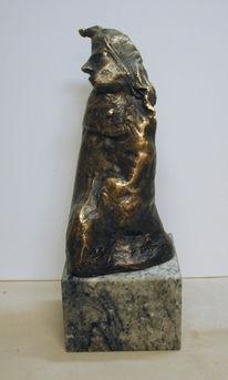 Bronze, Skulptur, Plastik, König