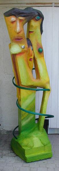 Plastik, Skulptur, Spaziergang