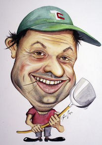Bauer, Karikatur, Cartoon, Portrait