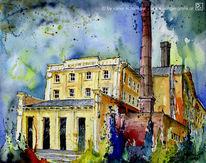 Haus häusser, Gemälde, Brauerei, Architektur