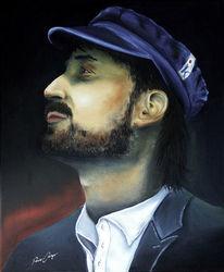 Selbstportrait, Mann, Kapitän, Ölmalerei