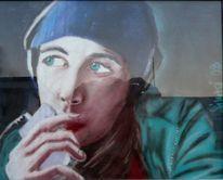 Portrait, Musik, Gesicht, Pastellmalerei