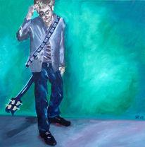 Malerei, Ölmalerei, Gitarre, Gedanken