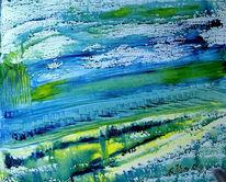Fantasie, Grün, Landschaft, Blau