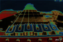 Gitarre, Perspektive, Digitale kunst, Stillleben