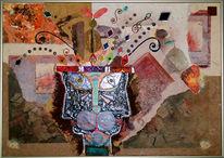 Katze, Malerei, Abstrakt