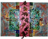 Collage, Malerei, Abstrakt