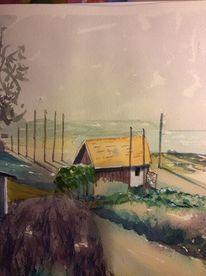Aquarellmalerei, Schweden, Landschaft, Aquarell
