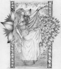 Lilien, Elfen, Blumen, Fantasie